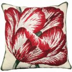 Large Tulip 18×18 NeedlePoint Pillow