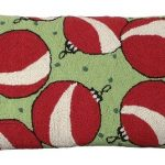Red White Ornaments Decorative Pillow