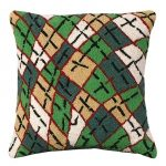 Argyle 18 x 18 Hooked Decorative Pillow