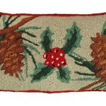Pine Cones Holly Decorative Pillow