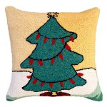 Tree with Red Lights Decorative Pillow