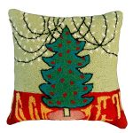 Tree with White Lights Decorative Pillow