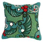 Holly with Blue Field Decorative Pillow