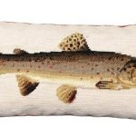 Brown Trout Decorative Pillow