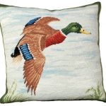 Mallard in Flight Decorative Pillow