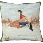 Mallard in Landing Decorative Pillow