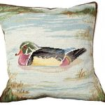 Wood Duck in Pond Decorative Pillow