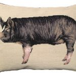Berkshire Pig Decorative Pillow
