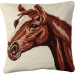 Red Hourse Decorative Pillow