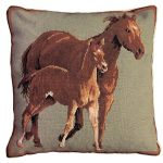Quarter Horses 20 X 20 Decorative Pillow