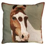Paint 20 X 20 Needlepoint Decorative Pillow