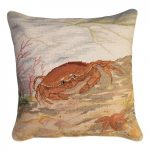 Crab and Sea Star 18 x 18 Needlepoint Pillow