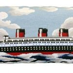 Normandie 15 x 28 Needlepoint Pillow
