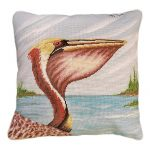 Pelican Profile Decorative Pillow