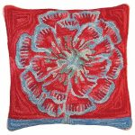 Bloomers 1 20 x 20 Hooked Decorative Pillow
