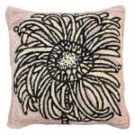 Bloomers 2 20 x 20 Hooked Decorative Pillow