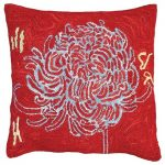 Bloomers 3 20 x 20 Hooked Decorative Pillow