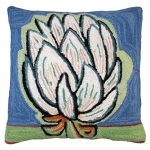 Bloomers 4 20 x 20 Hooked Decorative Pillow