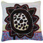 Bloomers 5 20 x 20 Hooked Decorative Pillow