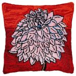 Bloomers 6 20 x 20 Hooked Decorative Pillow