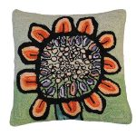 Bloomers 7 20 x 20 Hooked Decorative Pillow
