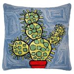 Bloomers 8 20 x 20 Hooked Decorative Pillow