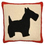 Scottie 18×18 Hand Hooked Decorative Pillow