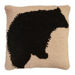 Black Bear Decorative Pillow