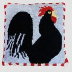 Good Morning Chicken 18X18 Hooked Pillow