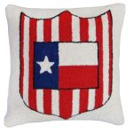 Texas Flag and Shield Decorative Pillow