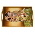 Kiss Eglimose Reverse Hand Painted Tray