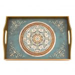 Paris Eglimose Reverse Hand Painted Glass Tray
