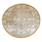 Manta Gold Round Tray or Charger